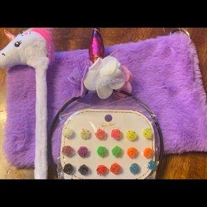 Unicorn headband and accessories earrings
